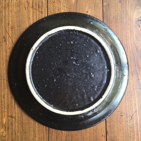 エミシ工房   平皿(黒)