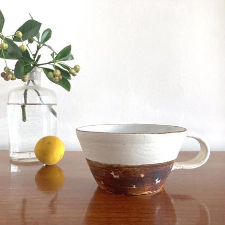 エミシ工房・泥染スープカップ#1