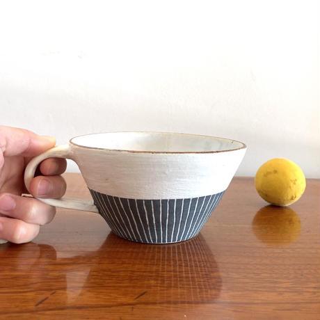 エミシ工房・泥染スープカップ#2