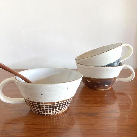 エミシ工房・泥染スープカップ#3