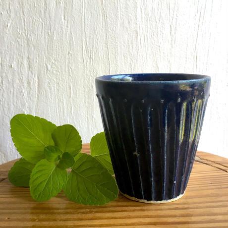 エミシ工房   しのぎフリーカップ(瑠璃)#2