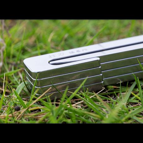 ステンレス製キャンプ用ペグ 『打刀』20cm×8本セット