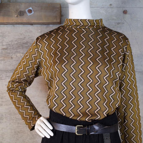 Designed High-necked Top