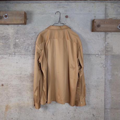 Vintage Open-collared Satin Shirt