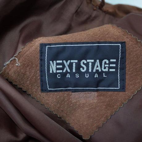 Vintage Suede Leather Half Coat