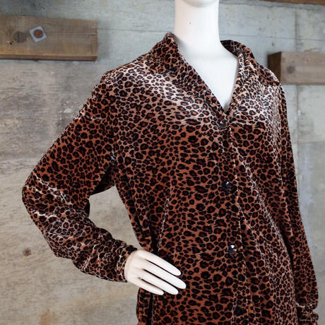 Animal Patterned Velour Shirt
