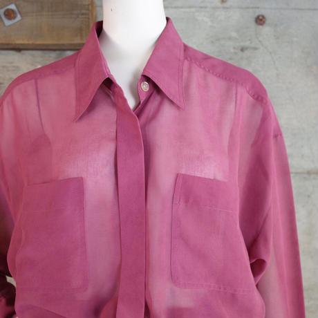 Vintage Sheer Poly Blouse