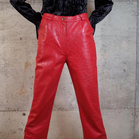 """伊太利屋"" Animal Patterned PVC Pants"