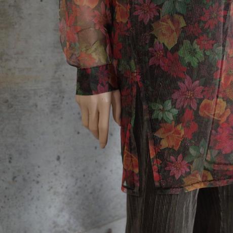 Vintage Designed Long Sheer Shirt