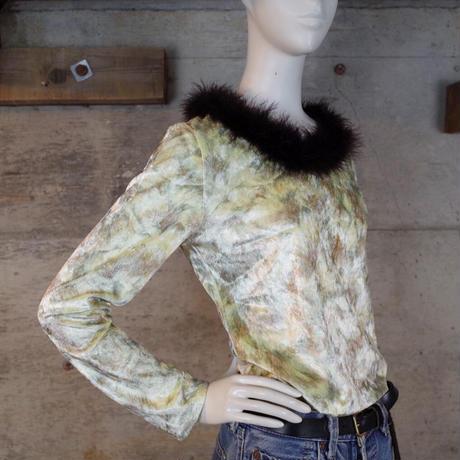 Vintage Designed Velour Top
