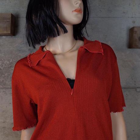 Vintage Designed Half-zip Top