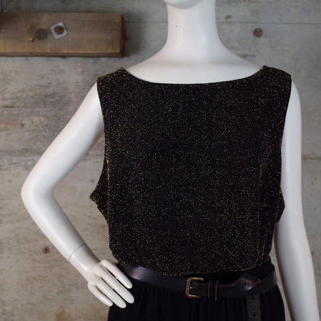 Sleeveless Glitter Nylon Knit