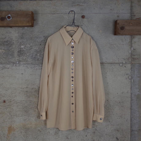 Vintage Designed Sheer Shirt