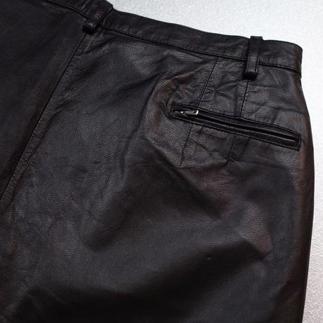 Vintage Leather Flare Pants