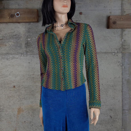 Vintage Designed Knit Shirt