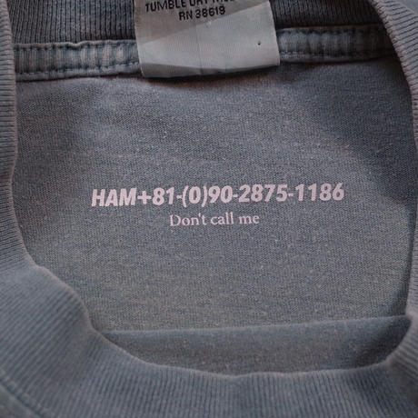 HAM Official Reboot Pigment Dyed Tee