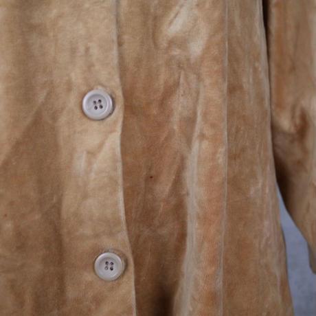 Vintage Designed Velour Shirt