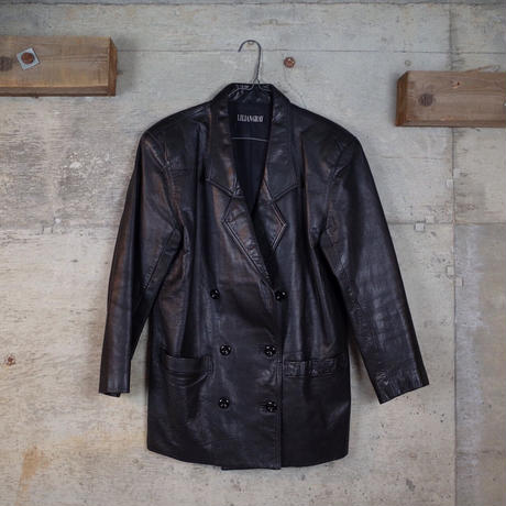 Vintage Double-breasted Leather Jacket