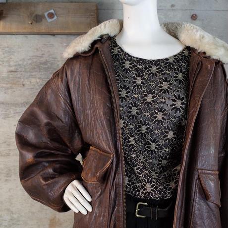 """AVIREX"" Vintage A-2  Flight Leather Jacket"