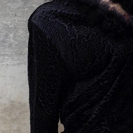 Vintage Designed Velour Cardigan