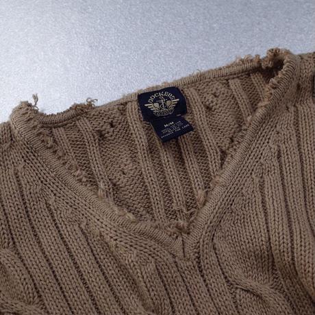 Vintage Cable Stitch Crash Knit
