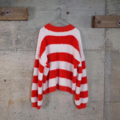 Vintage Striped Shaggy Knit