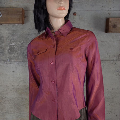 Vintage Designed Shiny Shirt