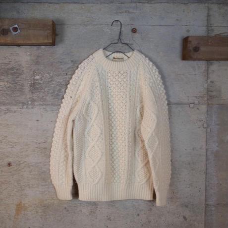Vintage Aran Cable Stitch Wool Knit