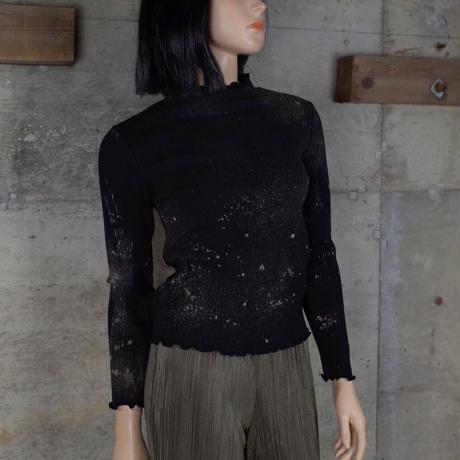 Vintage Designed Bleach Out Knit