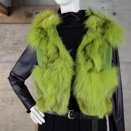 Designed Rabbit Fur Vest