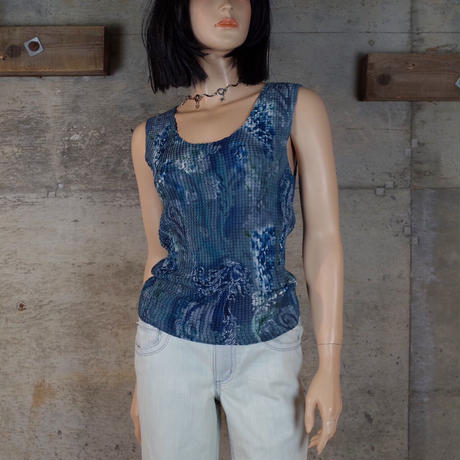 Vintage Designed Sheer Sleeveless Top