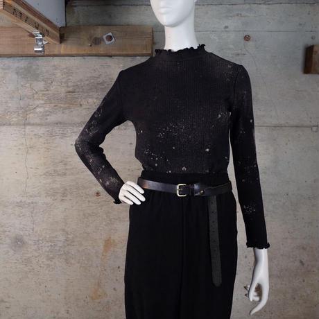 Bleach Out Cotton Rib Knit