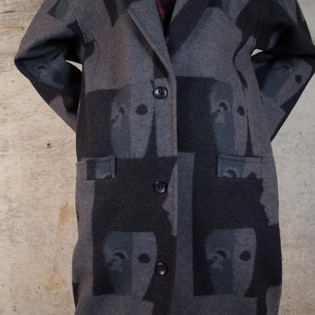 Designed Wool Long Coat