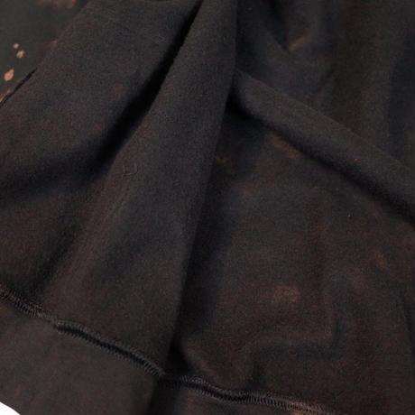 """HAM"" Original Bleach Out Zip-up Hoodie #Black[在庫が無くなり次第終了]"