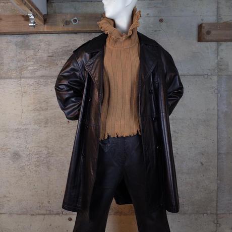 Vintage Designed Leather Trench Coat