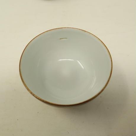 A005【茶器】 九谷焼 華やかな色絵金彩 窓絵山水 煎茶