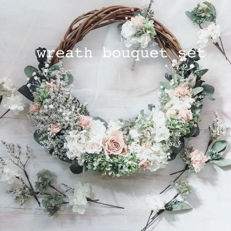 wreath bouquet set(オーダーメイドリースブーケ 3点セット)