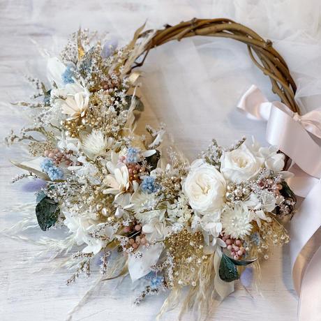 wreath *pastel ivory*