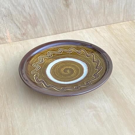小鹿田焼 7寸縁付き皿