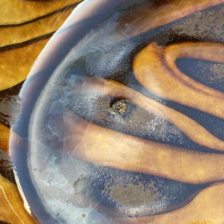 小代焼ふもと窯 スリップ楕円皿(大)