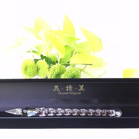 ガラスペン「花・誘・美」by  ガラス工房LUC