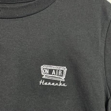 Hanaoka-ONAIRキッズTシャツ【くろ】