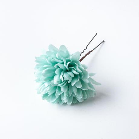 HA-0434 成人式 卒業式 お花 髪飾り 和風オリジナル髪飾り Uピン8本 ピンク 水色 白 水引細工 垂れ飾り 日本製