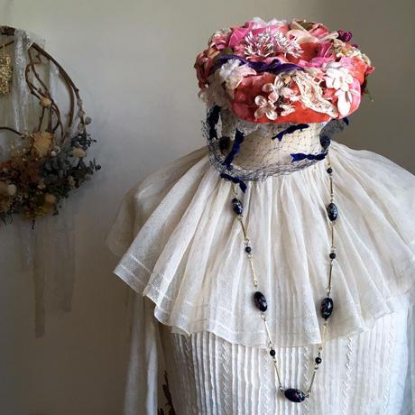 ヴィンテージ ヘッドドレス 花冠 50年代  フランス ピンク