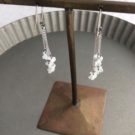 螺旋 clear【pierce&earring】