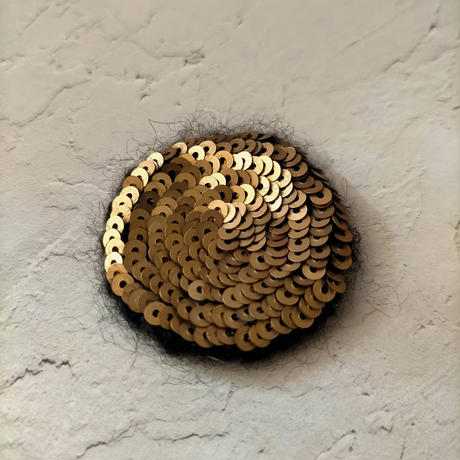 champagne gold moon brooch