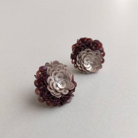 Rose pierce&earring