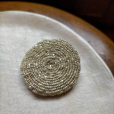 maru  brooch  [スチールシルバー/再販]