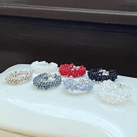 tsubu tsubu イヤーカフ/Mサイズ Czech  beads[1piece]