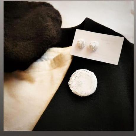 white flower brooch